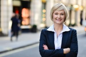 confident business executive