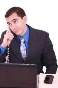 bored business executive