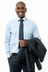 smiling male executive